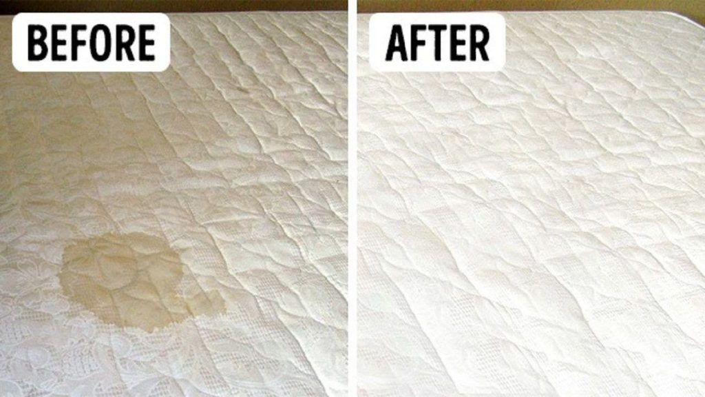 mattress-cleaning before after